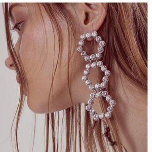 New FOR LOVE & LEMONS Mira Crystal Dangle Earrings